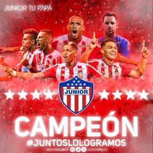 Atletico Junior are Champions of Liga Águila II - 2018