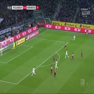 Borussia Mönchengladbach [1]:0 Nürnberg - Thorgan Hazard 47'