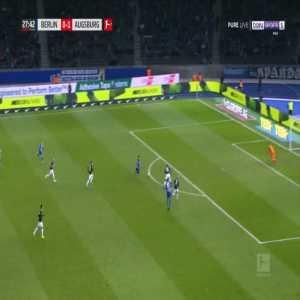 Hertha [1]-1 Augsburg - Mathew Leckie 28'