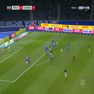 Hertha 2-[2] Augsburg - Ja-Cheol Koo 39'