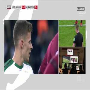 Thorgan Hazard penalty miss vs. Nürnberg (45')