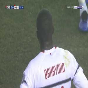 Tiemoue Bakayoko second yellow card against Bologna 76'