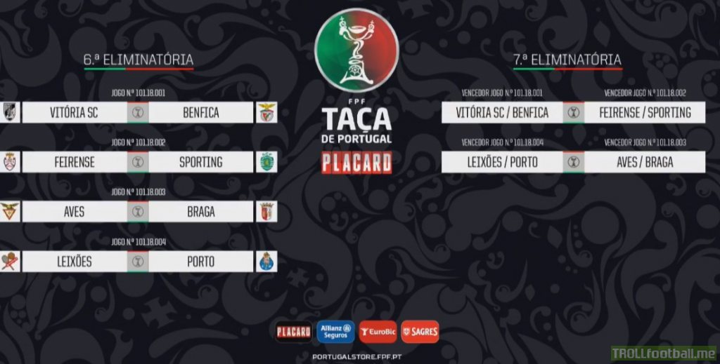 Taça de Portugal Quarter-Finals/Semi-Finals Draw: | Troll Football