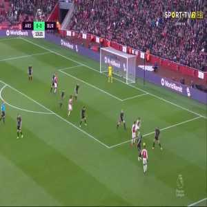 P. Aubameyang goal (Arsenal [1]-0 Burnley) 14'