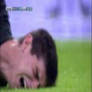 For all the shit that Thibaut Courtois is talking about Atletico Madrid, and all the ass-kissing he's now doing for Real Madrid, never forget that he did this in a Madrid derby while playing for Atleti.