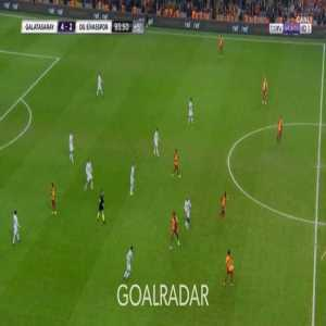 Ozan Kabak kicks the ball out on purpose so that Mustafa Kapi (16) can be subbed in and become the youngest player ever to play for Galatasaray