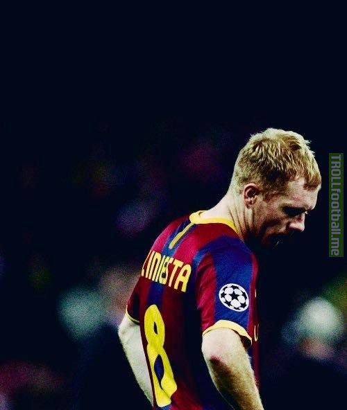 Vintage Picture of Andres Iniesta (Barca Legend)