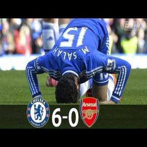 Wenger's Arsenal murdered by Chelsea, 6-0, at the Bridge.