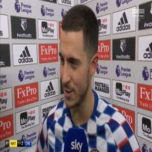 """Hazard after Chelsea's win over Watford: I want to score more goals for this club and then try to be a legend like Lampard, Terry, Drogba."""""""