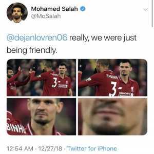 Egyptians got Dejran Lovren suspended from Twitter after Salah made a joke about him on twitter