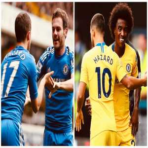 Juan Mata & Willian have both assisted Hazard 4 times in a Chelsea shirt. Mata left Chelsea during the 13/14 season.