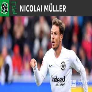 Hannover 96 loans Nicolai Muller until the end of the season from Eintracht Frankfurt
