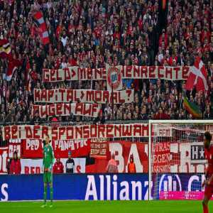 """Bayern Munich fans on their clubs relationship with Qatar: """"Money over human rights? Capital over morals? Open your eyes when it comes to sponsor choice!"""""""