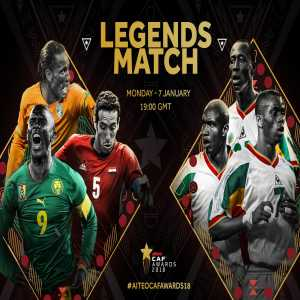 CAF announces an African Legends match to take place on January 7th. Senegal 2002 team (Runners Up at AFCON and QF finish at the WC) VS. African All Star Team (players include: Drogba, Aboutrika, Eto'o, Naybet, Nonda and Njitap)