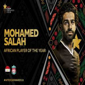 Mohamed Salah is CAF's African Player of the Year for 2018.
