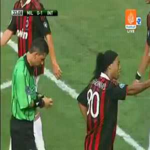 Ronaldinho gets the wrong card