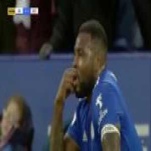 Jan Bednarek goal line clearance (Leicester City v Southampton)