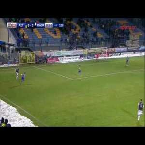 PAOK FC El Kaddouri dribbling like Bale but in the snow 😂😂