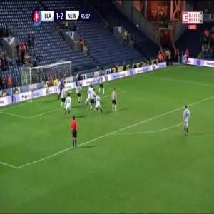 Blackburn Rovers [2]:2 Newcastle United - Darragh Lenihan 45+1'