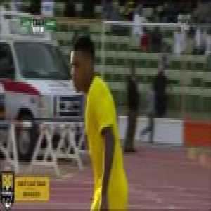 Garry Rodrigues gets a red card while warming up during Al-Ittihad vs Al-Washm.