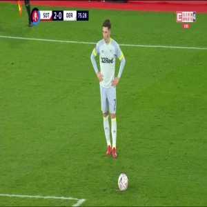 Southampton 2:[1] Derby County - Harry Wilson 76' (free kick)