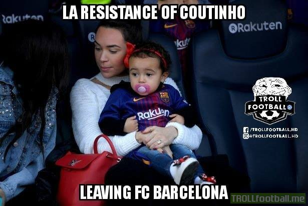 Stories are that his wife and daughter do not want Philippe Coutinho to leave Barcelona.