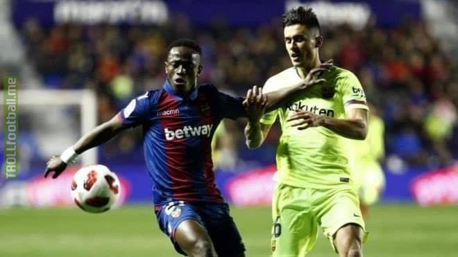 "Barcelona face the prospect of disqualification from this season's Copa del Rey for fielding an illegible player against Levante, report El Mundo.  The report claims that one of Barca's players for their defeat last week – Juan Brandáriz , better known as Chumi – was not sanctioned to play in the match due to being banned whilst playing for the club's B side.  The report cites the disciplinary code article 56.3 as stating: ""The sanctioned player will not be able to feature in any of these teams or clubs until the number of days to which the sanction applies expires.""  Article 76 of the Disciplinary Code of the Spanish Football Federation is also quoted: ""A club that improperly aligns a player for not meeting the regulatory requirements to participate in a match, will lose this match, declaring their opponent the winner with the result of three goals to nil, unless they have obtained a higher score.  ""If the competition is for points, in which case this will be maintained, or if it was in an elimination match (as would apply in this case), the outcome in question will be resolved in favour of their opponent.""  El Mundo cites 'legal sources' as claiming expulsion from the competition – of which Barca have won the last three editions – is a real possibility.  Three seasons ago, Real Madrid were expelled from the competition for fielding Denis Cheryshev against Cadiz."