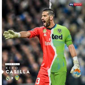 BREAKING: @LUFC have completed the signing of Kiko Casilla from @realmadrid on a four-and-a-half-year deal.