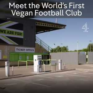 Jamie Oliver and Jimmy Doherty go behind the scenes at vegan club Forest Green Rovers