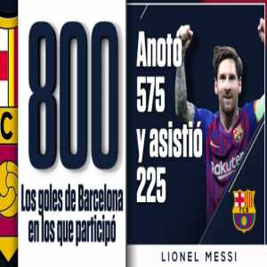 Lionel Messi has been involved in 800 goals in 660 appearances for Barcelona (575 goals and 225 assists)