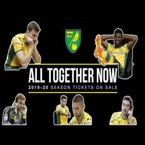 Norwich City's excellent advert for 2019-2020 season tickets.