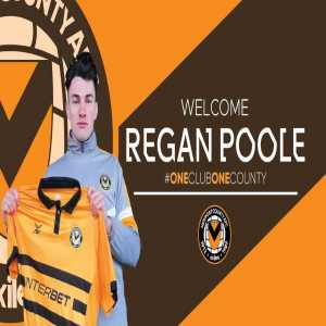 Newport County sign Welsh centre-back Regan Poole on loan from Manchester United