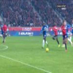 Nicolas Pepe (Lille) penalty miss against Amiens 39'