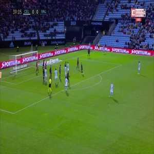 Celta Vigo [1]:0 Valencia - Néstor Araujo 40'