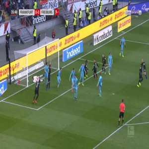 Frankfurt 1-0 Freiburg - Sebastien Haller 36'