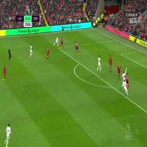 Liverpool 0:[1] Crystal Palace - Andros Townsend 34'