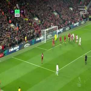 Liverpool 2:[2] Crystal Palace - James Tomkins 65'
