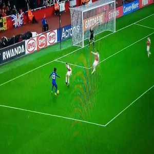 Willian shot vs Arsenal