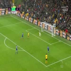 Wolverhampton Wanderers [4]:3 Leicester City - Diogo Jota 90+3' (hattrick)