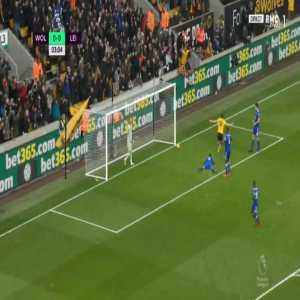 Wolves 1-0 Leicester - Diogo Jota 4'