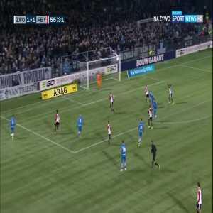 Zwolle [2]:1 Feyenoord - Vito van Crooy 56'
