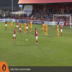 Chris Bush (Ebbsfleet United) brilliant 25-yard free-kick vs Leyton Orient