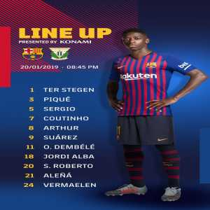 Messi starts on the bench today for Barcelona against Leganes. Carles Alena in the starting XI