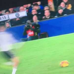Mitrovic with the DDT on Sanchez. Yellow for both.