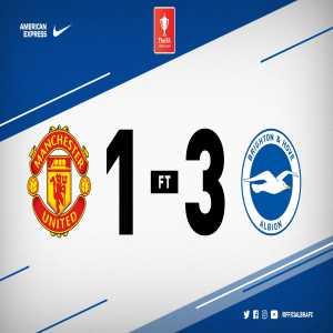 Brighton u18 beat Man united u18 3-1 in FA youth cup