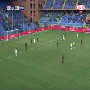 Genoa 0:[1] Milan - Fabio Borini 72'