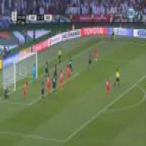 Tursunali Rustamov (Kyrgyzstan) hit the crossbar against United Arab Emirates 120'+2'