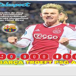 Mike Verweij: Barcelona will sign Frenkie de Jong for 90 million euros, making him the most expensive Dutch player ever. (Tier 1)