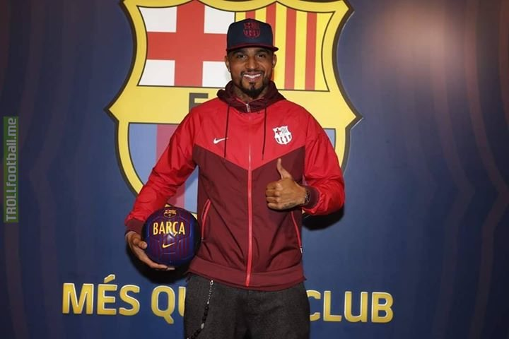 Official: Kevin Prince Boateng (31yr striker) is on loan at Barcelona with an option to buy