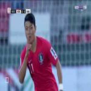 South Korea [1]-0 Bahrain - Hwang Hee-chan 43'
